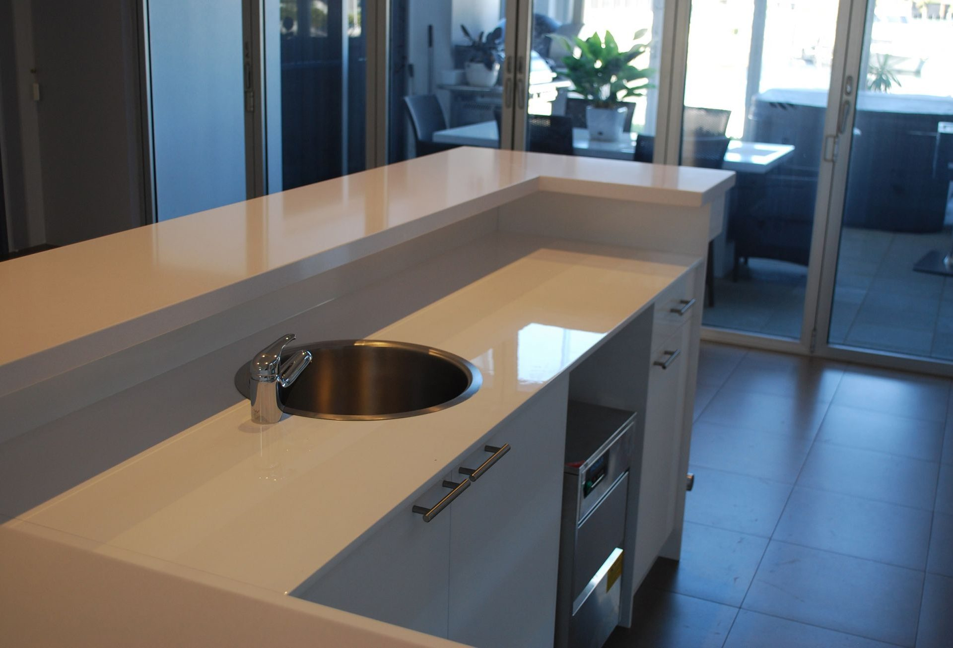 home bar with counter basin
